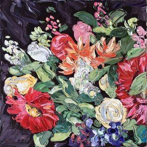 """""""30 Dollars On Sunday"""", 75x75cm, oil on canvas."""