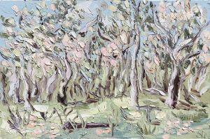 """""""Bathurst, Lavender Cottage (13.12.17) - Plein Air"""", 100x150cm, oil on canvas."""