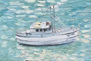 """""""Berry's Bay (30.11.17) – Plein Air"""", 100x150cm, oil on canvas."""