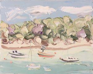 """Berry's Bay Study 2 (30.11.17) – Plein Air"", 60x75cm, oil on canvas."