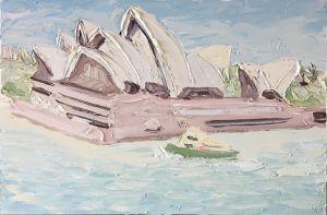 """""""Blues Point (30.05.17) - Plein Air"""", 100x150cm, oil on canvas."""