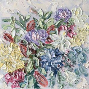 """""""Captains On Tuesday (5.12.17)"""", 75x75cm, oil on canvas."""