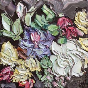 """""""Captains On Tuesday Study 1 (5.12.17)"""", 25x25cm, oil on canvas."""