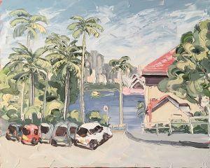 """2 Hour Parking"", 120x150cm, oil on canvas."
