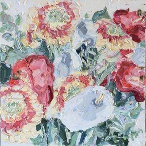 """Monday (7.8.17)"", 150x150cm, oil on canvas."