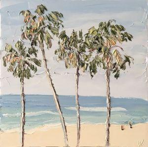 """Palm Study 2 (9.1.18)"", 75x75cm, oil on canvas."