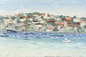 """Rose Bay (22.8.17) - Plein Air"", 120x180cm, oil on canvas."