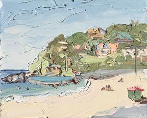 """""""South Palmy (24.7.17) – Plein Air"""", 60x75cm, oil on canvas."""
