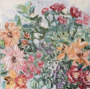 """Stella Day (6.3.17)"", 100x100cm, oil on canvas."