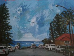 """Longreef surf check"", 2011, 30""x40"", oil on canvas"