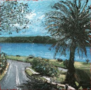 """palmy to west head"", 2011, 40""x40"", oil on canvas"