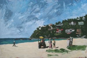 """south palmy"", 2011, 60""x40"", oil on canvas (FINALIST 2011 MOSMAN ART PRIZE)"