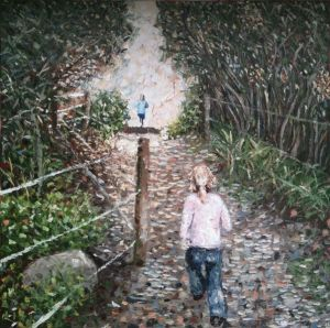 """wait for me"", 2011, 60""x60"", oil on canvas"