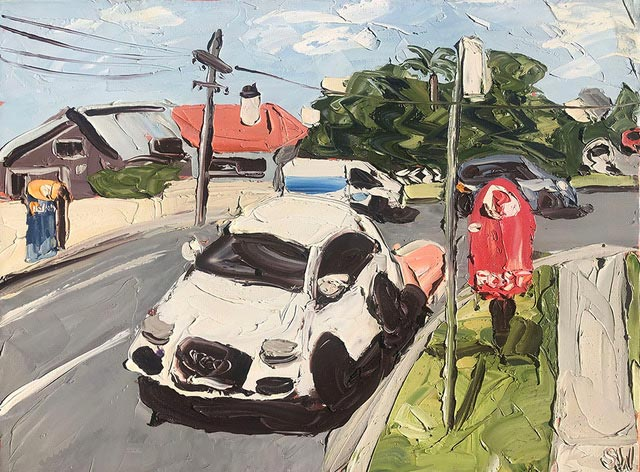 """""""The Phone Box"""", 90x120cm, oil on canvas. FINALIST 2021 Georges River Art Prize."""